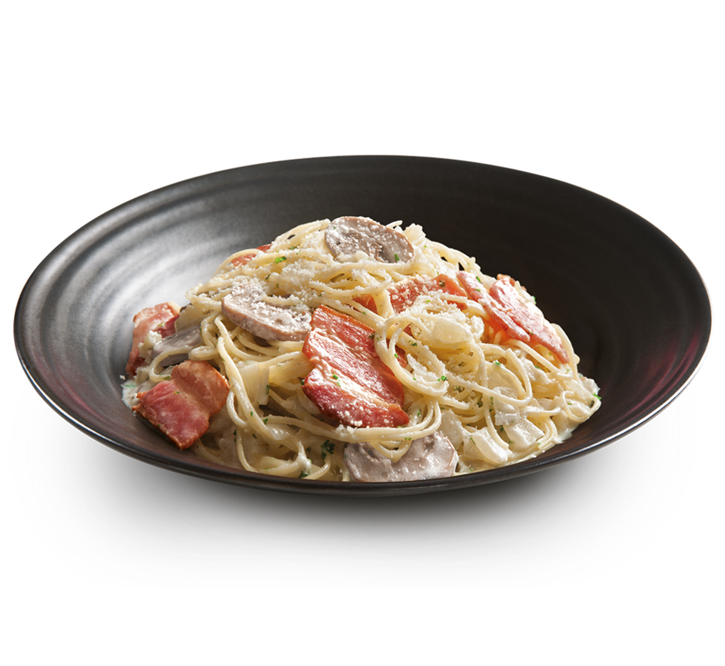 Pasta Bacon & Mushroom with Truffle Oil Image