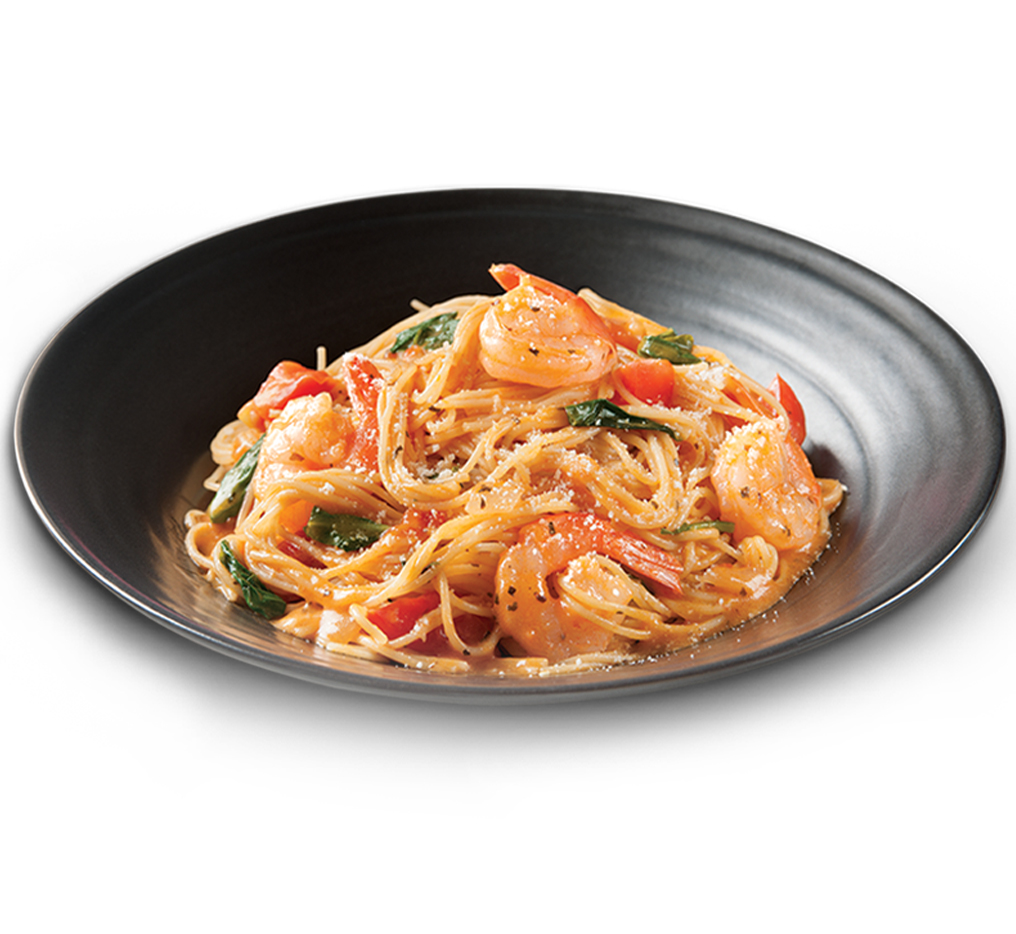 Pasta Shrimp Rose Image
