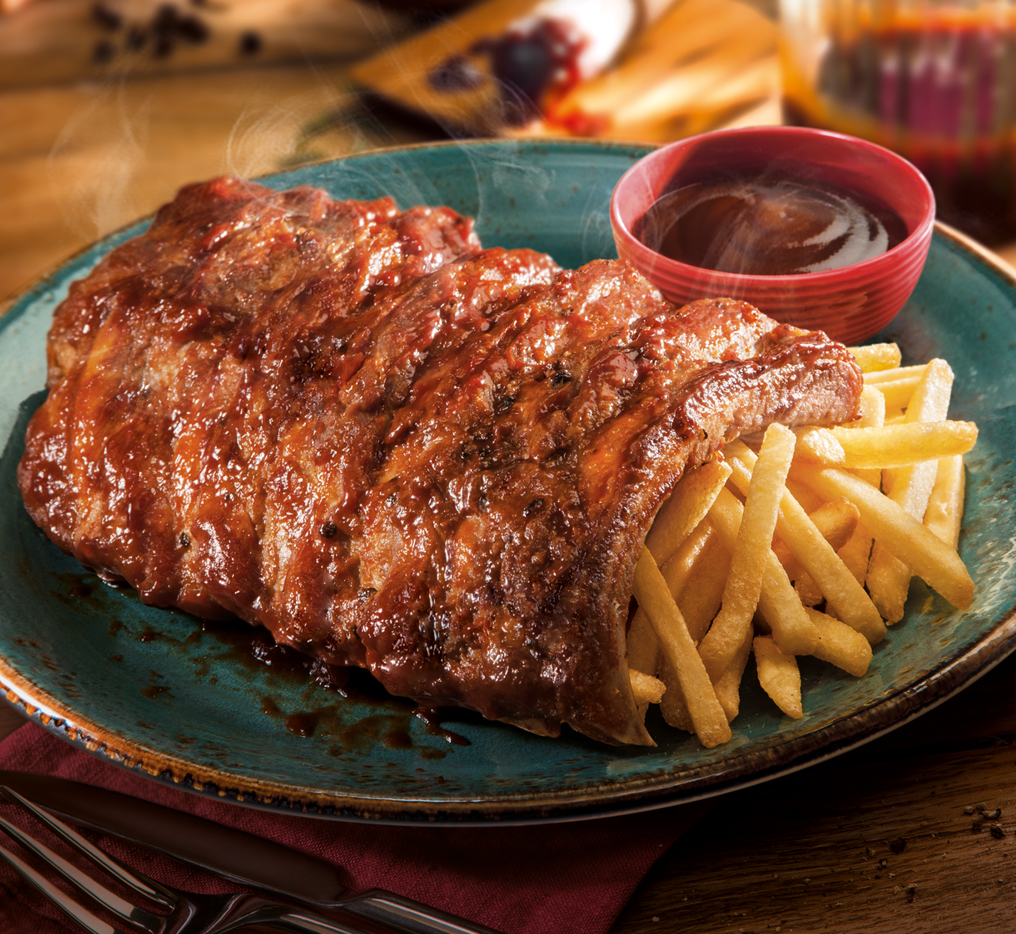 Pork Rib with French Fries (Full) Image
