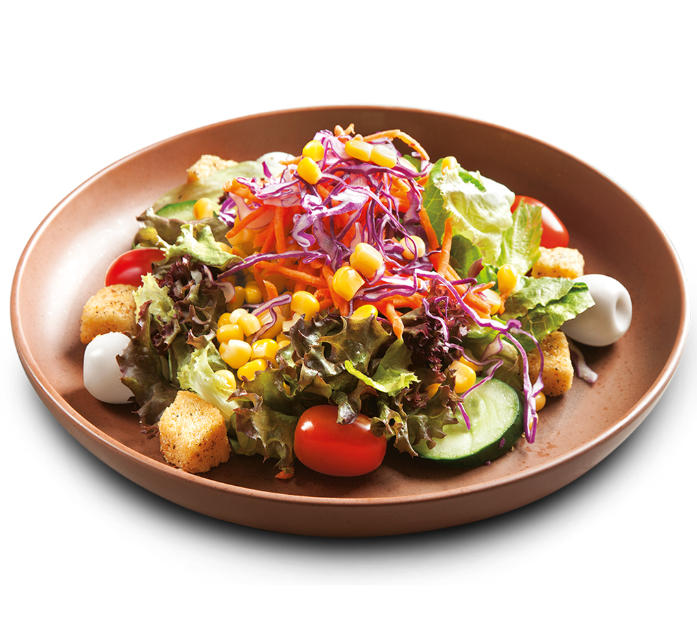 Garden Salad with Quail Eggs Image